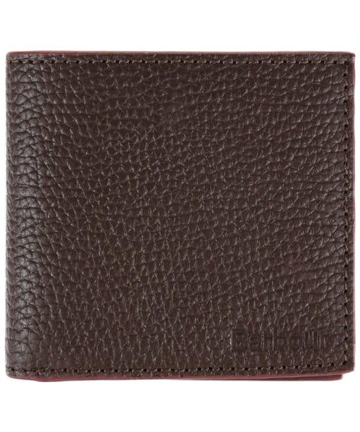 Men's Barbour Leather Billfold Wallet - Dark Brown