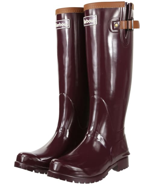 Women's Barbour Blyth Wellingtons - Aubergine