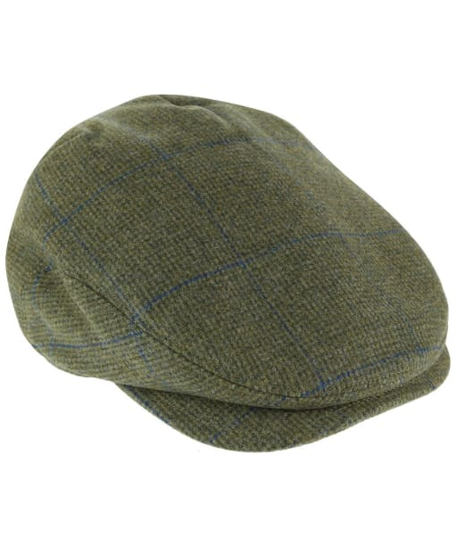Men's Alan Paine Combrook Waterproof Extended Peak Tweed Cap - Lagoon