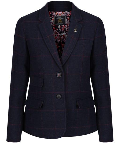 Women's Joules Wiscombe Tweed Blazer - Blue Tweed