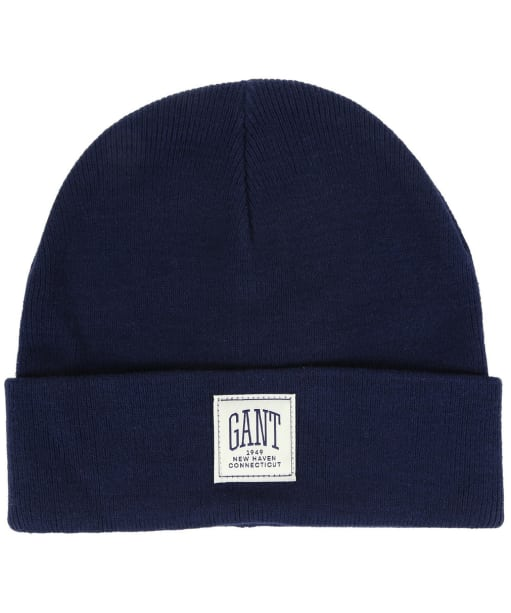 Men's GANT Solid Knit Hat - Marine