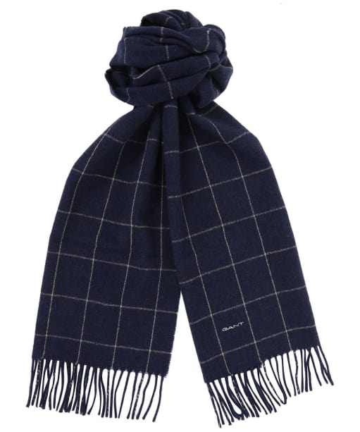 Men's GANT Windowpane Scarf - Persian Blue
