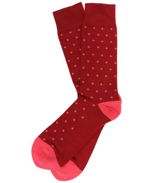 Men's GANT Dot Socks - Mahogany Red