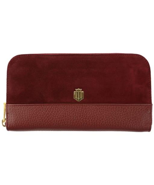 Women's Fairfax & Favor Salisbury Leather Purse - Oxblood