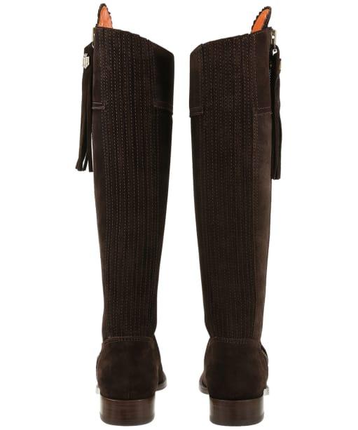 Women's Fairfax & Favor Flat Regina Boots - Chocolate Suede