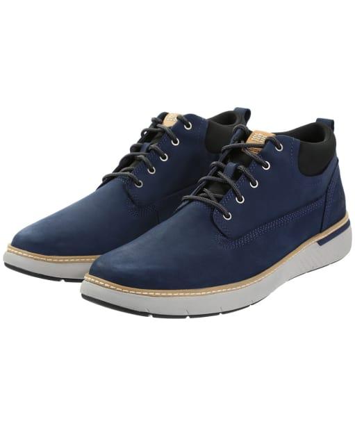 Men's Timberland Cross Mark Plain Toe Chukka Boots - Black Iris