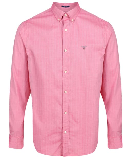 Men's GANT Regular Herringbone Shirt - Watermelon Red