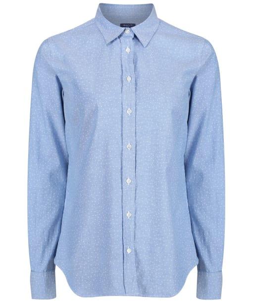 Women's GANT Snow Dot Oxford Shirt - Nautical Blue