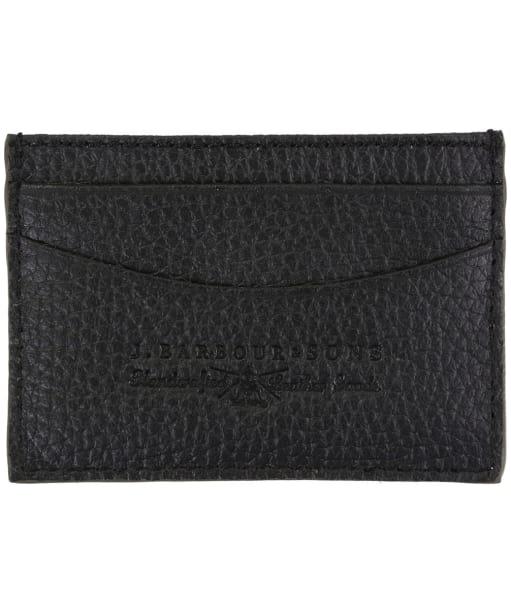 Men's Barbour Grain Leather Card Holder - Black