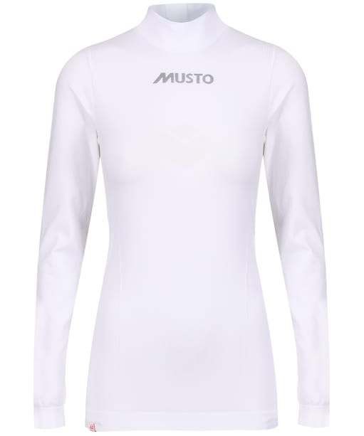 Women's Musto Turtle Neck Base Layer - White