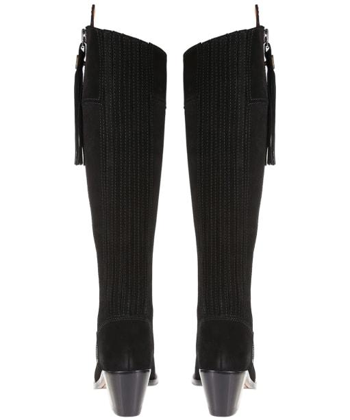 Women's Fairfax & Favor Heeled Regina Boots - Black Suede
