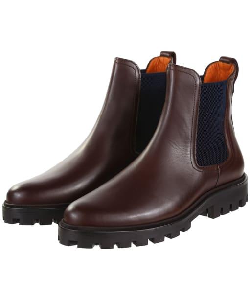 Women's Fairfax & Favor Boudica Chelsea Boots - Mahogany Leather