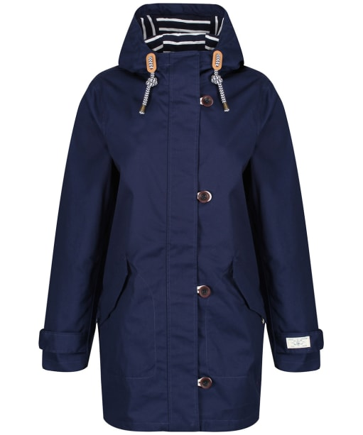 Women's Joules Coast Mid Length Waterproof Jacket - French Navy