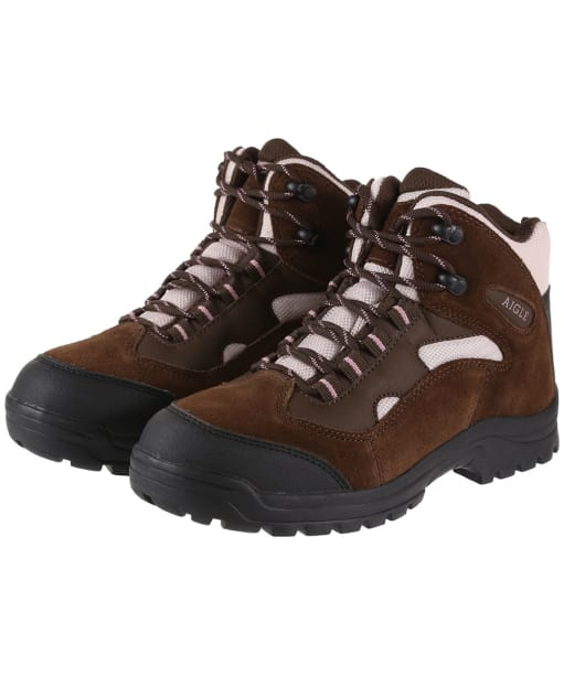 Women's Aigle Beaucens Lady Walking Boots - Cacao / Rose