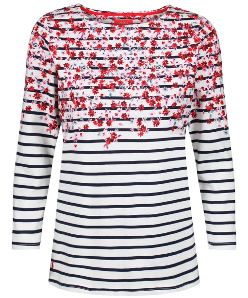 Women's Joules Harbour Printed Top - Cream Border Ditsy