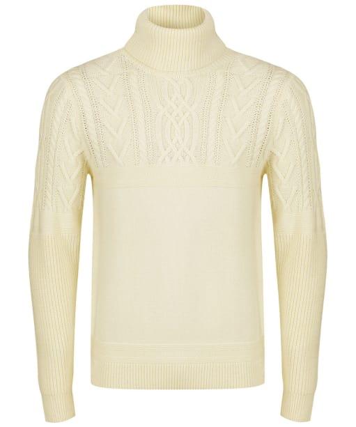 Men's GANT Aran Roll Neck Sweater - Cream