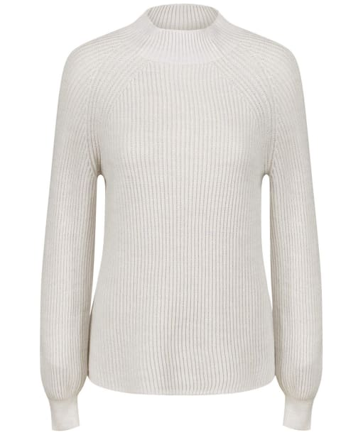Women's GANT Ribbed Mockneck Sweater - Manila Melange