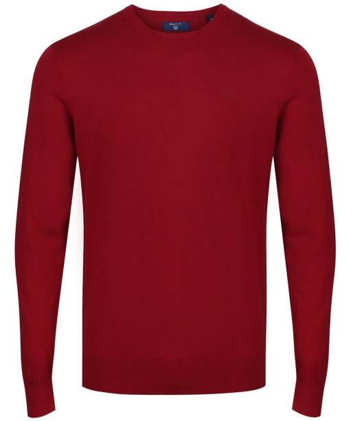 Men's GANT Cotton Cashmere Crew Sweater - Mahogany Red