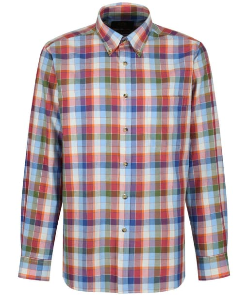 Men's Viyella Box Check Button Down Shirt - Peacock