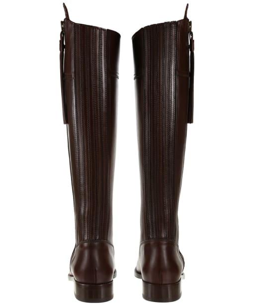 Women's Fairfax & Favor Regina Flat Leather Boots - Mahogany Leather