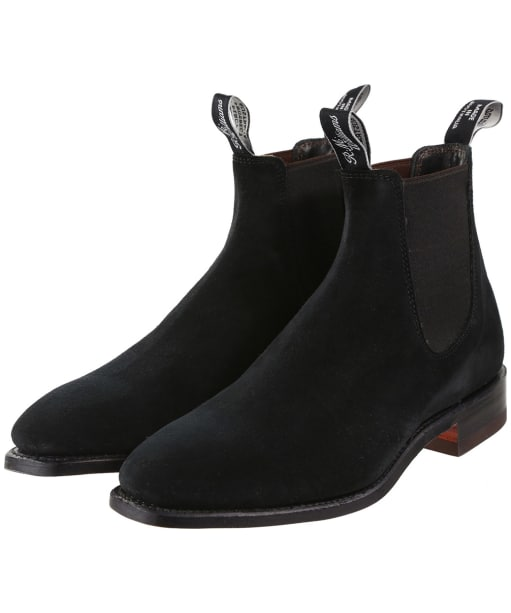 Men's R.M. Williams Suede Craftsman Chelsea Boots - G Fit - Black