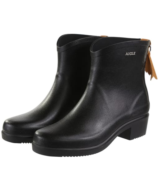 Women's Aigle Miss Juliette Bottillon Ankle Boots - Black