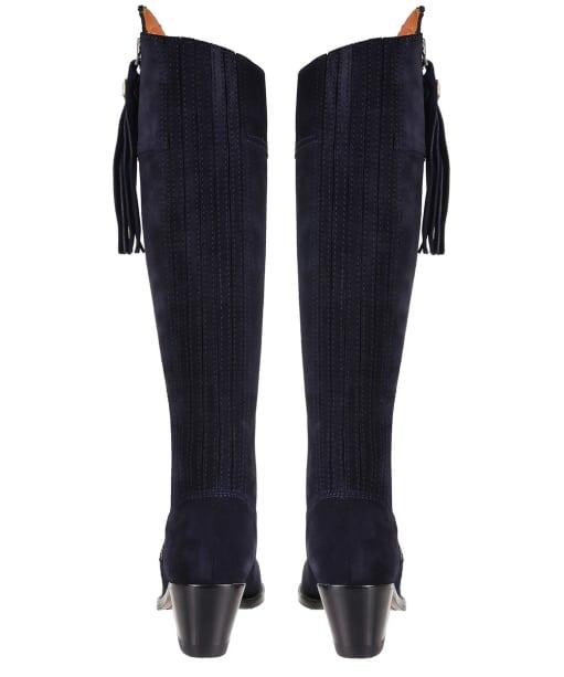 Women's Fairfax & Favor Heeled Regina Boots - Navy Blue Suede