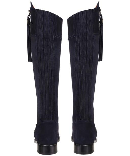 Women's Fairfax & Favor Flat Regina Boots - Navy Blue Suede