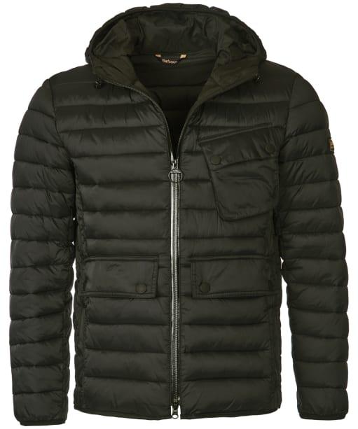 Men's Barbour International Ouston Hooded Quilted Jacket - Olive
