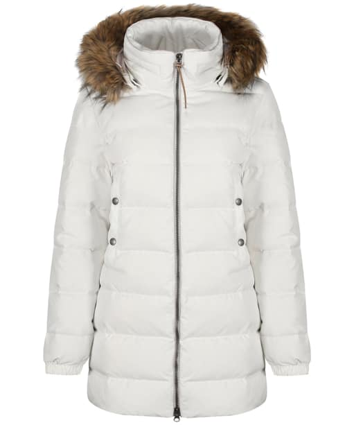 Women's Aigle Rigdown Mid Length Puffer Jacket - Off White