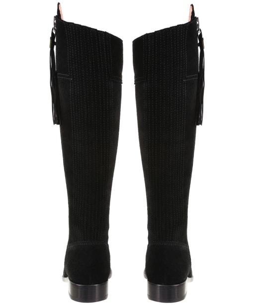 Women's Fairfax & Favor Flat Regina Boots - Black Suede