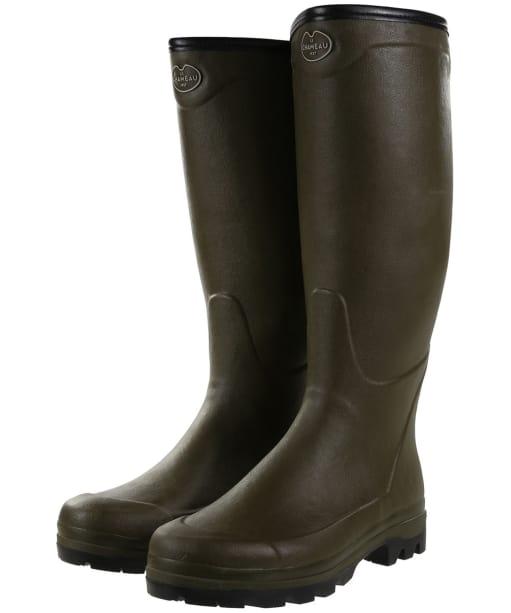 Men's Le Chameau Country Jersey XL Wellington Boots - Vert Chameau