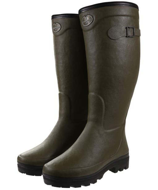 Women's Le Chameau Country Fourree Wellington Boots - Vert Chameau
