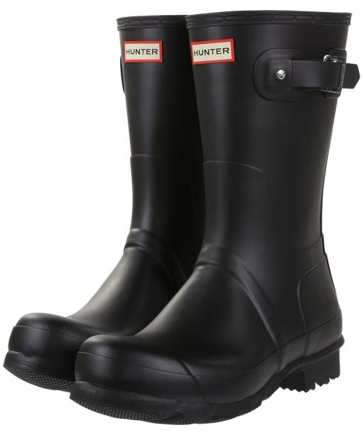 Men's Hunter Original Short Wellington Boots - Black