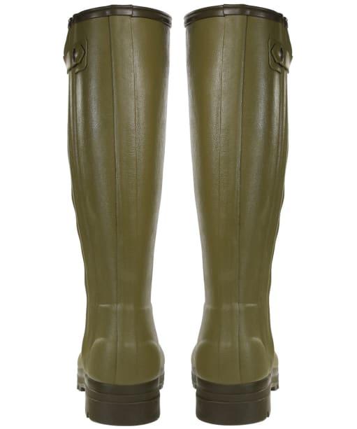 Men's Le Chameau Chasseur Leather Lined Wellingtons – 44cm calf - Vert