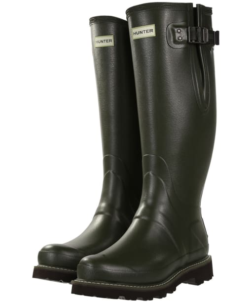 Men's Hunter Field Balmoral Poly-Lined Wellington Boots - Dark Olive