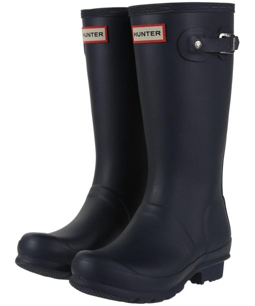 Hunter Original Kids Wellington Boots, 7-11 - Navy