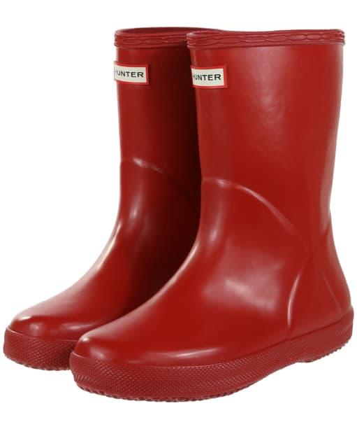 Hunter Original Kids First Gloss Wellington Boots - Military Red