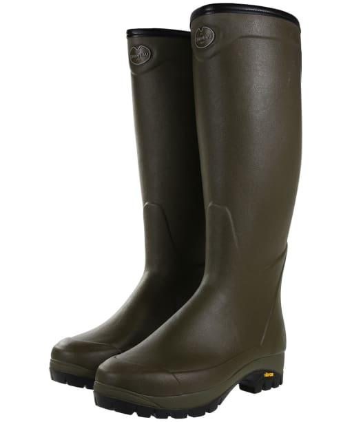 Le Chameau Country Vibram 3mm Neoprene Lined Wellington Boots - Vert Chameau