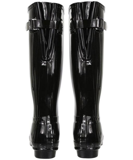 Women's Hunter Original Back Adjustable Gloss Wellingtons - Black