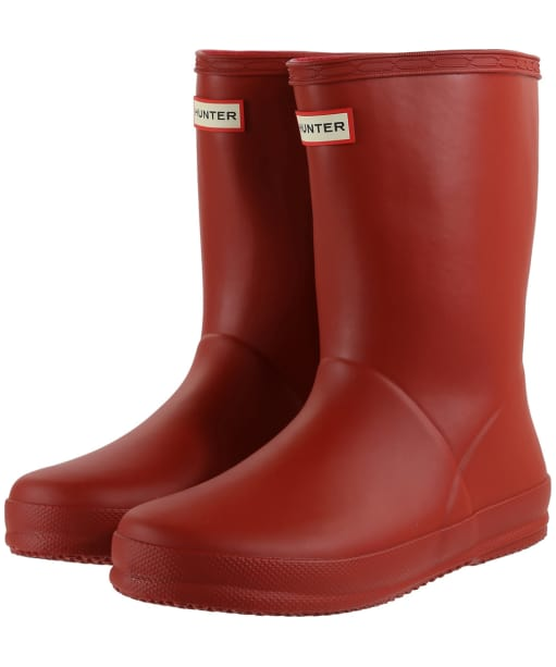 Hunter Kids First Classic Wellington Boots - Military Red