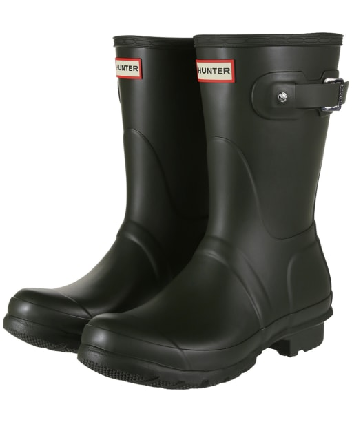Women's Hunter Original Short Wellington Boots - Dark Olive