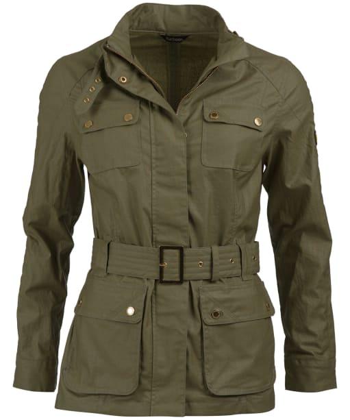 Women's Barbour International Bearings Jacket - Lt Army Green