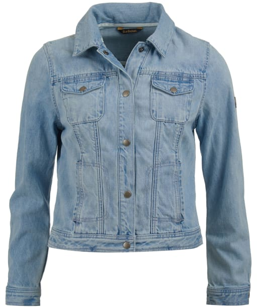 Women's Barbour Ripple Denim Jacket - Bleached