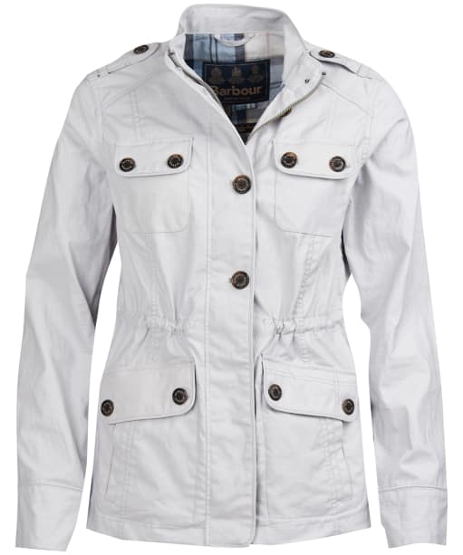 Women's Barbour Southsider Casual Jacket - Ice White