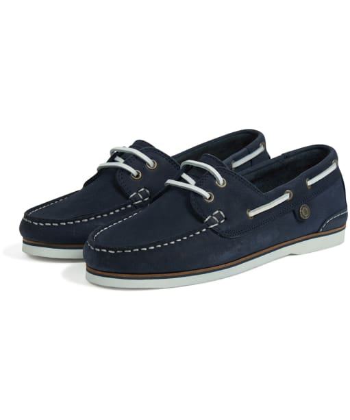 Women's Barbour Bowline Boat Shoes - Navy