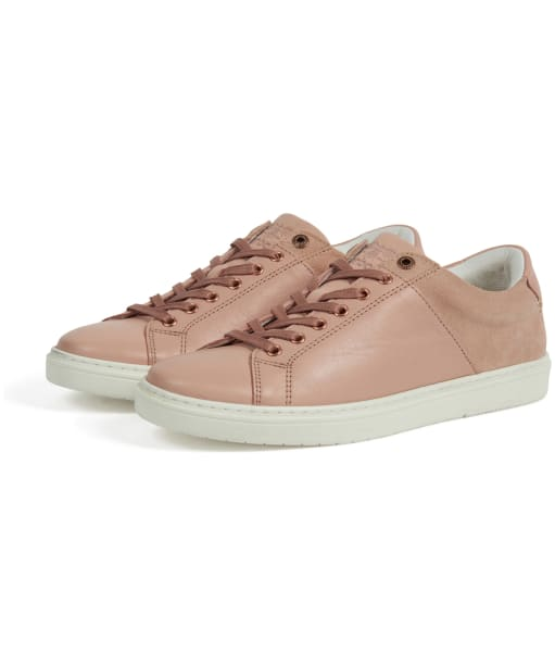Women's Barbour Catlina Leather Trainers - Pink