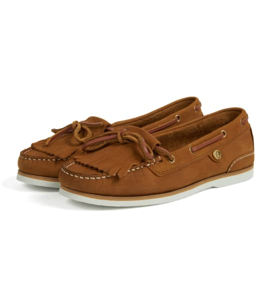 Women's Barbour Ellen Boat Shoes - Camel