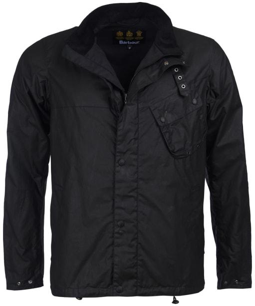 Men's Barbour International Beech Waxed Jacket - Black