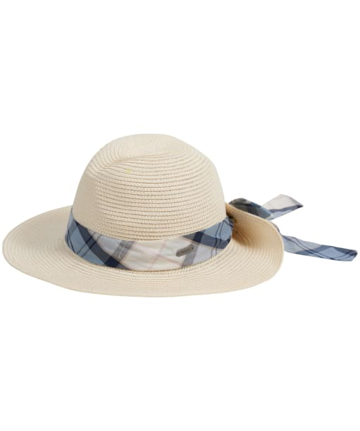 Women's Barbour Lorne Tartan Trimmed Fedora Hat - Natural